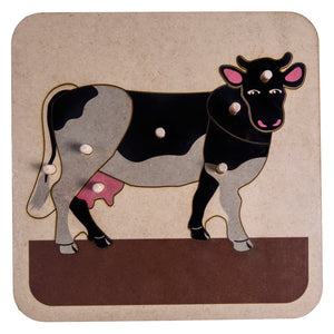 Zoology Cow Puzzle My Montessori South Africa