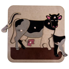 Load image into Gallery viewer, Zoology Cow Puzzle My Montessori South Africa