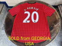 "ENGLISH PREMIER MANCHESTER UNITED FC 2012-2013 ENGLISH PREMIER LEAGUE CHAMPION TOP GOALSCORER V. PERSIE JERSEY NIKE SHIRT XL/ MODEL # 479278-623   SOLD ""VENDIDO"""
