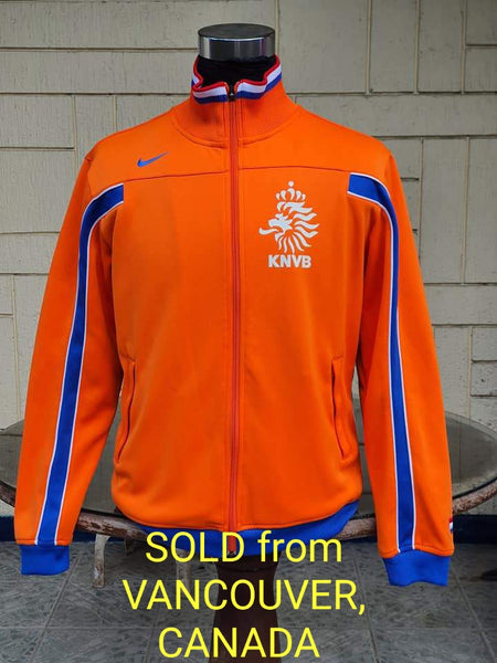 NETHERLANDS 2008 EURO QUALIFYING TRAINING TRACK NIKE JACKET TRIKOT MEDIUM / code 257499-815  SOLD VENDIDO