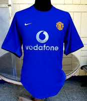 ENGLISH PREMIER MANCHESTER UNITED FC 2002-03 EPL CHAMPION  Ole Solskjær THIRD JERSEY NIKE JERSEY SHIRT LARGE  SOLD!!!