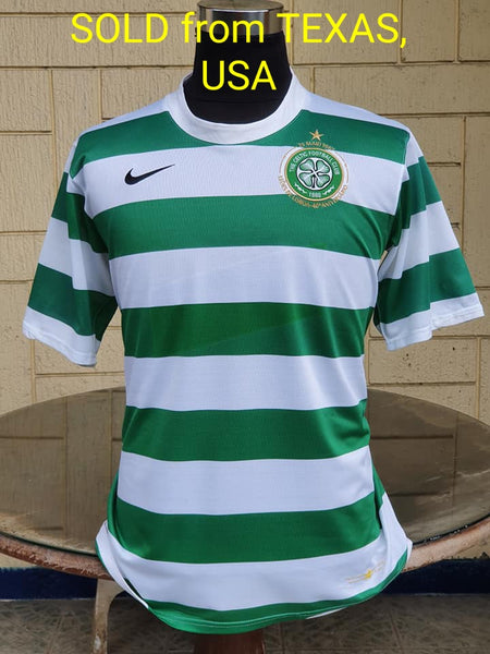 SCOTTISH PREMIER  CELTIC 2007-2008 PREMIER LEAGUE CHAMPION 40 ANNIVERSARY LISBON LIONS HOME SHIRT LARGE ..SOLD