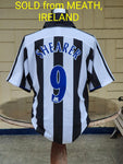ENGLISH PREMIER NEWCASTLE UNITED FC 2003-05 UEFA CUP SEMI-FINAL SHEARER SHIRT LARGE  SOLD .. VENDIDO