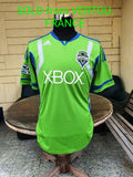 USA MLS SEATTLE SOUNDERS 2011  MLS CUP 2ND PLACE JERSEY ADIDAS HOME SHIRT M CODE# P10351  SOLD !!!