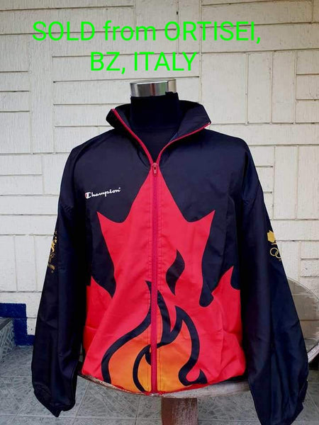 CANADIAN OLYMPIC TEAM 1996 ATLANTA USA : CENTENNIAL OLYMPIC GAMES TRAINING JACKET XL  SOLD !!!