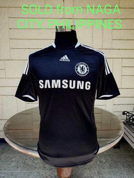 ENGLISH PREMIER CHELSEA 2008-09 FA CHAMPION JERSEY ADIDAS AWAY SHIRT MAILLOT SMALL / MODEL # 368089  SOLD !!!