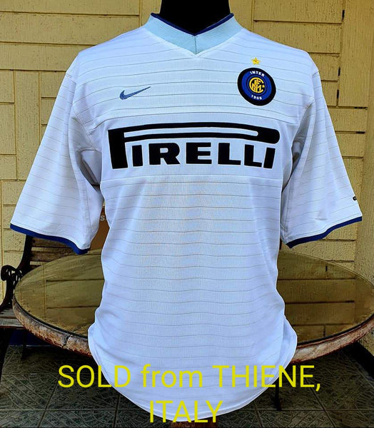 ITALIAN CALCIO INTER MILAN 2000-2001 COPPA ITALIA QUARTER FINALS NIKE AWAY SHIRT MAGLIA LARGE  SOLD !!!
