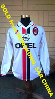 ITALIAN CALCIO  AC MILAN 1995-96 SERIA A CHAMPION AWAY LOTTO JERSEY FILIPPO GALLI 5 SHIRT CAMISETA MAGLIA LARGE  SOLD !!! - vintage soccer jersey