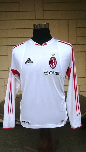 official photos e1b61 c4048 ITALIAN CALCIO AC MILAN 2004-05 SUPERCOPPA ITALIANA CHAMPION TRAINING WHITE  JERSEY ADIDAS SHIRT MAGLIA MEDIUM/ CODE # 369266