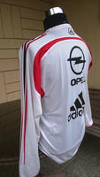 ITALIAN CALCIO AC MILAN 2004-05 SUPERCOPPA ITALIANA CHAMPION TRAINING WHITE JERSEY ADIDAS SHIRT MAGLIA MEDIUM/ CODE # 369266  SOLD !!! - vintage soccer jersey