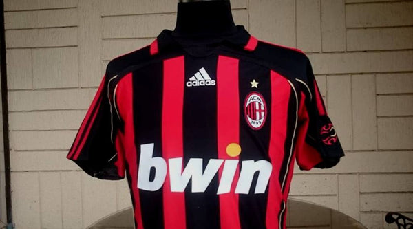 new arrival c3254 3269d ITALIAN CALCIO AC MILAN 2007 UEFA CHAMPION LEAGUE FINALS ATHENS TOP  GOALSCORER KAKA JERSEY ADIDAS SHIRT MEDIUM SOLD !!!!