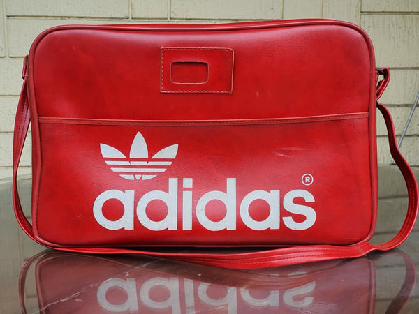 ADIDAS SPORTS VINTAGE 1970'S PETER BLACK RED FLIGHT SHOULDER BAG NORTHERN SOU