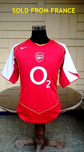 ENGLISH PREMIER ARSENAL FC 2004-05 FA COMMUNITY SHIELD & FA CUP CHAMPION JERSEY NIKE SHIRT MEDIUM SOLD !!! - vintage soccer jersey