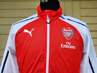 ENGLISH PREMIER ARSENAL FC 2014-2015 FA CUP & FA COMMUNITY CHAMPION ANTHEM  ZIP JACKET PUMA / STYLE NO. 746380 - vintage soccer jersey