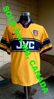 ENGLISH PREMIER ARSENAL FC 1997-99 FA PREMIER LEAGUE & FA CUP CHAMPION JERSEY NIKE SHIRT  SOLD !!! - vintage soccer jersey