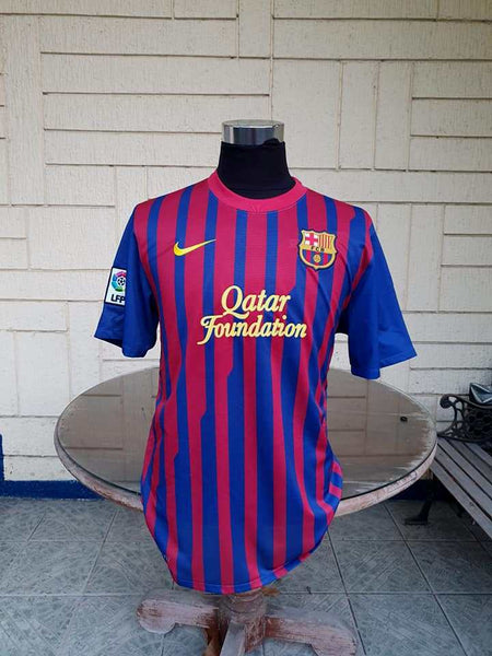 bd35b59c0 ... SPANISH LA LIGA BARCELONA FC 2011-2012 FOUR TITLE CHAMPION JERSEY MESSI  10 NIKE SHIRT ...