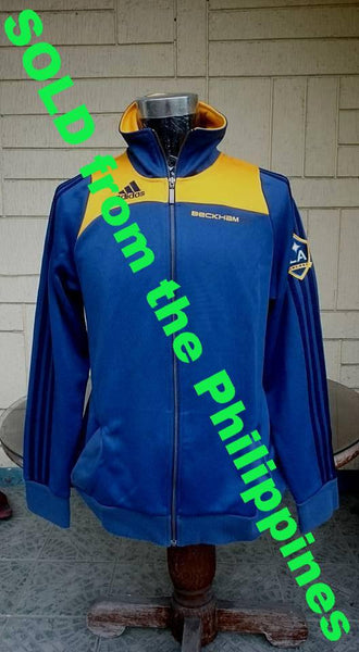 USA MLS LA GALAXY 2007-2008 CAPTAIN DAVID BECKHAM TRAINING ADIDAS JACKET MEMORABILIA SOLD !!! - vintage soccer jersey