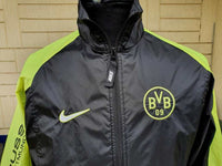 GERMAN BUNDESLIGA BORUSSIA DORTMUND 1997-98 INTERCONTINENTAL CUP CHAMPION NIKE VINTAGE TRAINING TRACK JACKET MEDIUM/SMALL - vintage soccer jersey