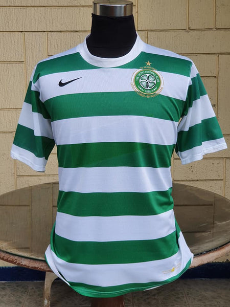 SCOTTISH PREMIER CELTIC 2007-2008 PREMIER LEAGUE CHAMPION 40 ANNIVERSARY LISBON LIONS HOME SHIRT LARGE