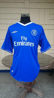 ENGLISH PREMIER CHELSEA 2004-05 PREMIER LEAGUE & LEAGUE CUP CHAMPION DAMIEN DUFF 11 JERSEY UMBRO SHIRT XL