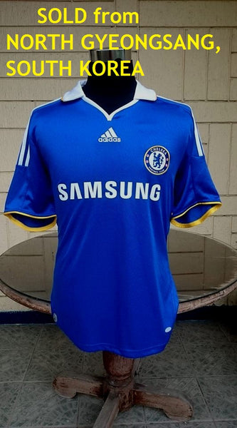 ENGLISH PREMIER CHELSEA 2008-09 FA CHAMPION JERSEY ADIDAS SHIRT MAILLOT LARGE/ MODEL # 656133 SOLD !!! - vintage soccer jersey