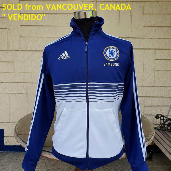 "ENGLISH PREMIER CHELSEA 2011-12 UEFA CHAMPIONS LEAGUE & FA CUP SHIRT ADIDAS ANTHEM JACKET MEDIUM CODE # X13094  SOLD "" VENDIDO "" !!!"