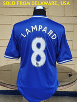 ENGLISH PREMIER CHELSEA 2013-14 UEFA CHAMPIONS LEAGUE SEMI-FINALS LAMPARD 8 JERSEY ADIDAS HOME SHIRT XL/ MODEL # Z27633  SOLD  - VENDIDO !!!