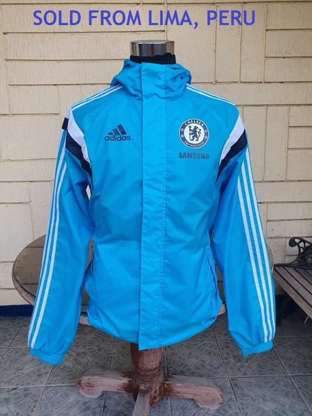 ENGLISH PREMIER CHELSEA 2014-15 ENGLISH PREMIER LEAGUE & CUP CHAMPION ADIDAS AWAY JACKET CODE/WHT M37144  SOLD !!!