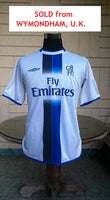 ENGLISH PREMIER CHELSEA 2003-04 FA PREMIER LEAGUE 2nd JERSEY UMBRO SHIRT LARGE SOLD !!! - vintage soccer jersey