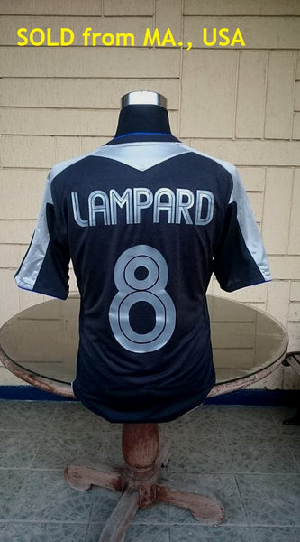 ENGLISH PREMIER CHELSEA 2005-06 PREMIER LEAGUE & FA COMMUNITY SHIELD CHAMPION UMBRO SHIRT LAMPARD 8 JERSEY LARGE  SOLD !!!! - vintage soccer jersey