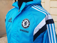 ENGLISH PREMIER CHELSEA 2014-15 ENGLISH PREMIER LEAGUE & CUP CHAMPION ADIDAS AWAY JACKET CODE/WHT M37144 - vintage soccer jersey