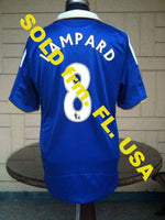 ENGLISH PREMIER CHELSEA 2008-09 FA CHAMPION LAMPARD JERSEY ADIDAS SHIRT CAMISETA SOLD!!! - vintage soccer jersey