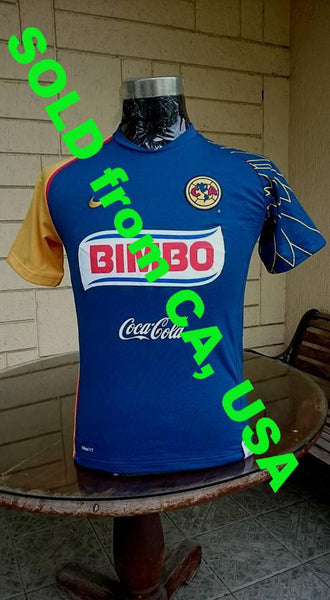 MEXICO LIGA MX: CLUB AMERICA 2007-2008 INTERLIGA CHAMPION AWAY NIKE SHIRT CAMISETA SOLD !!! - vintage soccer jersey