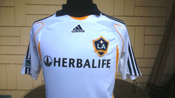 b0b53774cbe ... USA MLS LA GALAXY 2007-2008 CAPTAIN DAVID BECKHAM 23 JERSEY ADIDAS SHIRT  MEMORABILIA MEDIUM ...