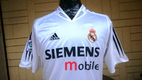 SPANISH LA LIGA REAL MADRID 2004-2005 LA LIGA 2ND PLACE JERSEY ADIDAS SHIRT CAMISETA  MEDIUM SOLD !!!! - vintage soccer jersey