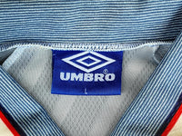 ENGLAND 1996 EURO HOST SEMI- FINALS AWAY JERSEY VINTAGE UMBRO SHIRT LARGE   SOLD!!!!
