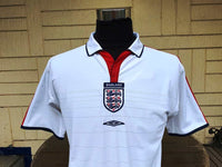 ENGLAND 2004 UEFA EURO QUARTER-FINAL REVERSIBLE JERSEY UMBRO SHIRT MEDIUM/ MODEL #00888503   SOLD !!! - vintage soccer jersey