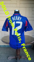 FRANCE 2004 UEFA EURO QUARTER FINALS THEIRRY HENRY 12 HOME SHIRT MAILLOT YOUTH  SOLD !!! - vintage soccer jersey