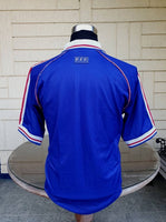 FRANCE 1998 WORLD CUP CHAMPION  JERSEY ADIDAS AWAY SHIRT MAILLOT MEDIUM  SOLD !!! - vintage soccer jersey