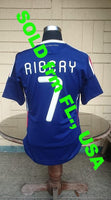 FRANCE 2010 WORLD CUP SOUTH AFRICA  FRANK RIBERY 7 JERSEY ADIDAS SHIRT MAILLOT CAMISETA MEDIUM  SOLD !!! - vintage soccer jersey