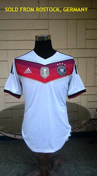 GERMANY 2014 WORLD CUP CHAMPION 4TH TITLE IN BRAZIL HOME JERSEY ADIDAS ADIZERO SHIRT TRIKOT MEMORABILIA COLLECTIBLE SOLD!!! - vintage soccer jersey