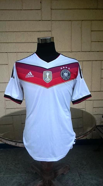 GERMANY 2014 WORLD CUP CHAMPION 4TH TITLE IN BRAZIL HOME JERSEY ADIDAS  ADIZERO SHIRT TRIKOT MEMORABILIA COLLECTIBLE a01fe5eee
