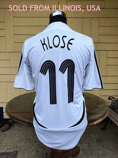 GERMANY 2006 FIFA WORLD CUP KLOSE 11 HOME JERSEY ADIDAS FORMOTION SHIRT TRIKOT MEMORABILIA MEDIUM  SOLD !!!!