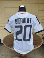 GERMANY 2002 FIFA WORLD CUP RUNNERS-UP LEGENDARY  BIERHOFF 20 JERSEY ADIDAS HOME SHIRT TRIKOT MEDIUM/SMALL  SOLD !!! - vintage soccer jersey