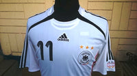 GERMANY 2006 FIFA WORLD CUP KLOSE 11 HOME JERSEY ADIDAS FORMOTION SHIRT TRIKOT MEMORABILIA MEDIUM - vintage soccer jersey