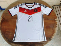 GERMANY 2014 WORLD CUP CHAMPION 4TH TITLE IN BRAZIL REUS 21 HOME JERSEY ADIDAS SHIRT TRIKOT MEMORABILIA COLLECTIBLE  MEDIUM / CODE # G75069 - vintage soccer jersey