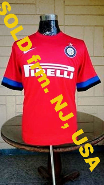 info for 50d45 a7375 ITALIAN CALCIO INTER MILAN FC 2012-13 COPPA ITALIA SEMI-FINALS AWAY NIKE  SHIRT MAGLIA SOLD !!!