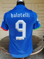 ITALY 2013 FIFA CONFEDERATIONS CUP 3RD PLACE MARIO BALOTELLI 9 HOME JERSEY MAGLIA CAMISETA SMALL / STYLE NUMBER: 740193