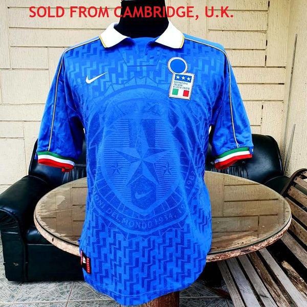ITALY 1996 EURO QUALIFYING AZZURRI MAGLIA HOME NIKE SHIRT CAMISETA L  SOLD !!!! - vintage soccer jersey