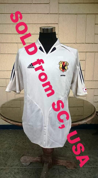 JAPAN 2004 KIRIN CUP & AFC ASIAN CUP CHAMPION AWAY JERSEY ADIDAS SHIRT ジャージーシャツ SOLD !!! - vintage soccer jersey